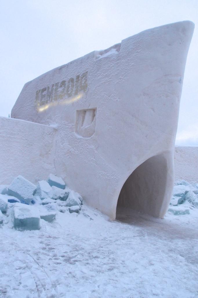 Wejście na teren lodowego zamku