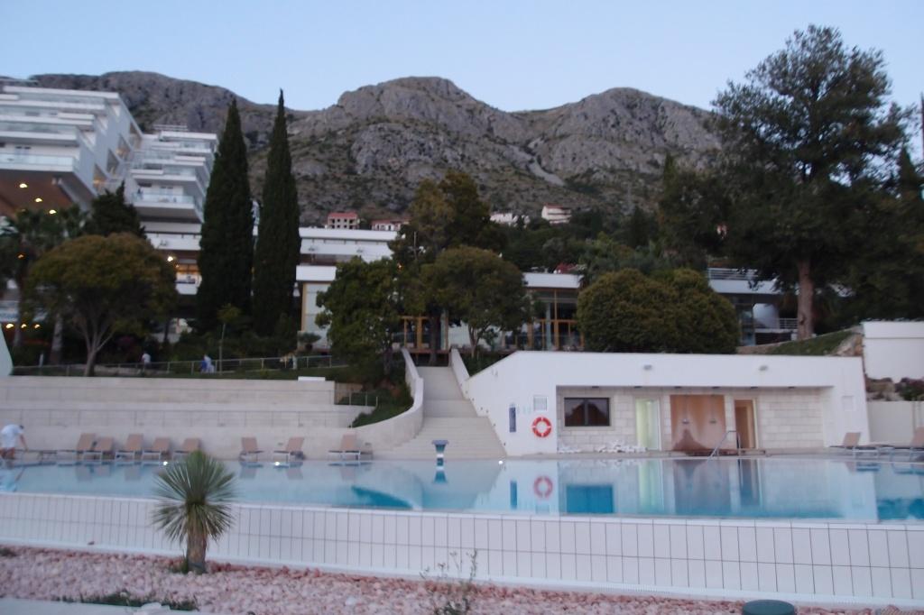 Widok na Hotel Astarea od strony morza.