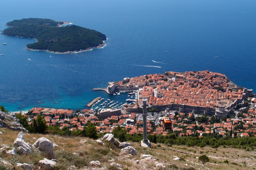 Widok z góry Srd na Dubrovnik